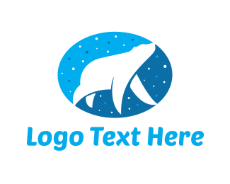 Polar - Bear & Stars logo design