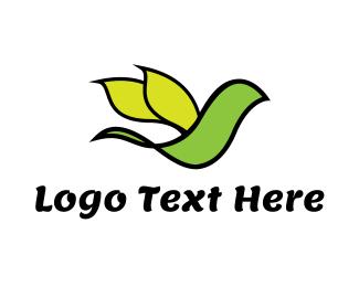 Parrot - Leaf Parrot logo design