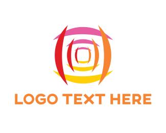 Retina - Abstract Camera Lens logo design