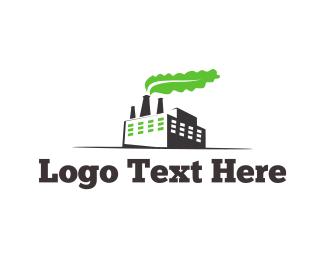 Factory - Green Factory logo design