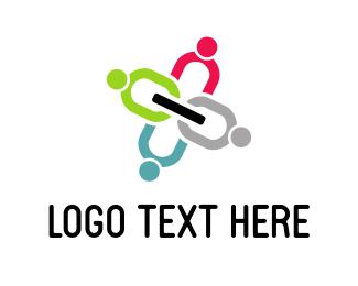Grey - Human Chain logo design