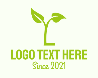 Root - Green Letter L logo design