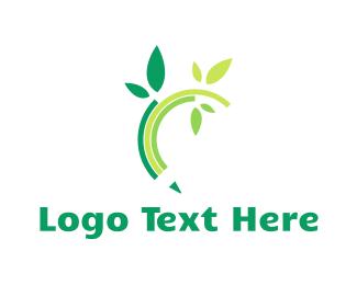Gardener - Eco Pencil logo design