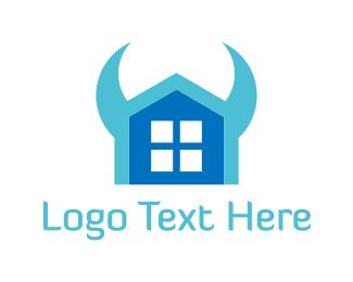 Cow - Evil House logo design