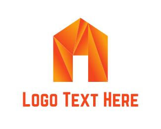 Folded - Origami House logo design