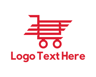 Supermarket - Red Trolley logo design