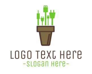 Cable - Gadget Vase logo design