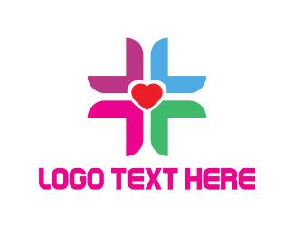 Cross - Love Cross logo design