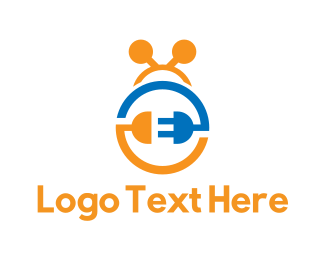 Plug - Electric Bug logo design