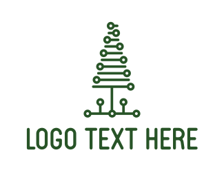 Pine Tree - Tech Pine Tree logo design