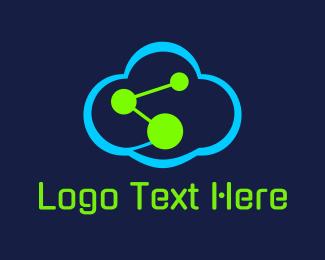 Atom - Science Cloud logo design