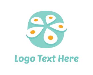 Egg - White Flower Egg logo design