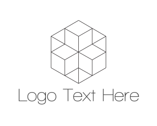 Squarespace - Geometric Hexagon logo design