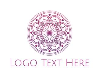 Drawing - Pink Mandala  logo design