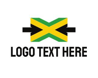 Caribbean - Jamaica Letter X logo design