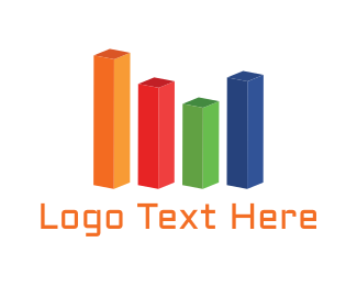 Bar Chart - Colorful Bar Chart logo design