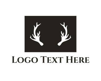 Whiskey - Deer Antlers logo design