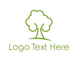 Spa - Green Tree logo design