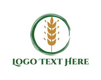 Farm - Wheat Circle logo design