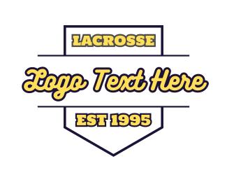 Sport - Lacrosse Emblem logo design