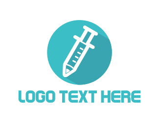 Needle - Vaccination Circle logo design