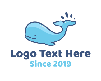 Water - Blue Whale logo design