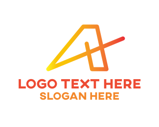 Minimalist - Orange Modern A logo design