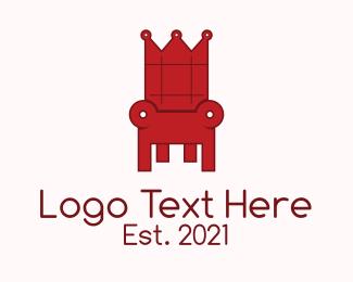 Furniture - Red Throne logo design