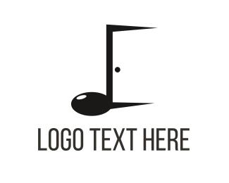 Open - Music Door logo design