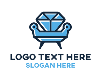 Sofa - Diamond Furniture logo design