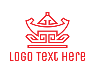 Ornament - Red Chinese Nugget logo design
