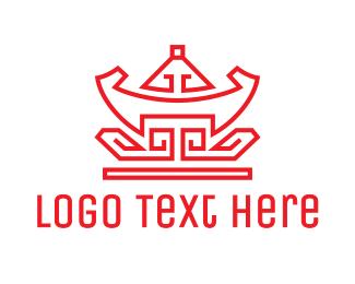 China - Red Chinese Nugget logo design