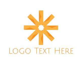 Agricultural - Orange Asterisk logo design