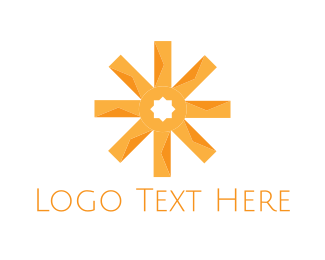 Asterisk - Orange Asterisk logo design