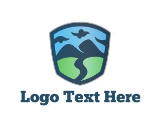 Outback - Nature Emblem logo design