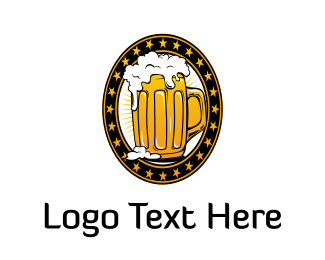 Ale - Golden Beer logo design