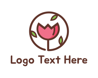 Tulip - Flower Circle logo design