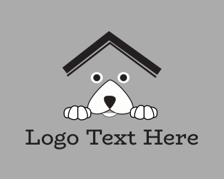 Pet Sitting - Dog House logo design
