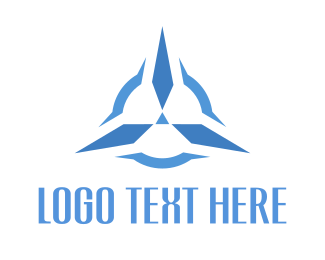 Solid - Blue Propeller logo design