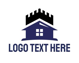 Violet - Violet House Castle logo design
