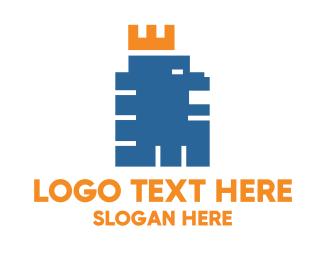 Wild - Pixel Lion logo design