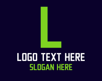 Green Digital Text Logo