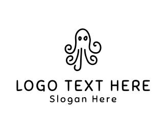 Kids - Octopus Drawing logo design
