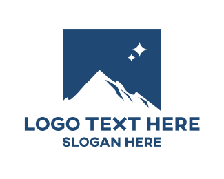 Construction - Mountain Star Square logo design