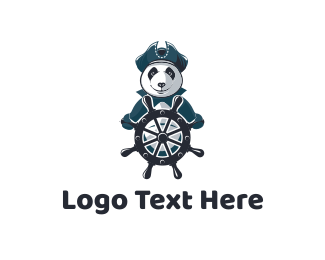 Nautical - Captain Panda logo design