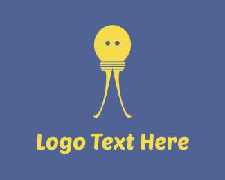 Light Bulb - Bulb Character logo design
