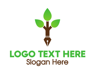 Copywriter - Pen Tree logo design
