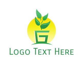 Plant - Plant Letter G logo design