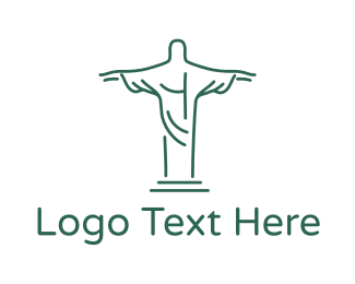 Christ - Christ Statue Outline logo design