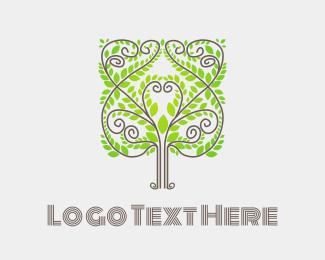 Green - Elegant Tree logo design
